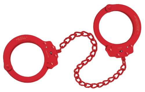 """Peerless Handcuff Company"", Fußschellen, Modell 703R, rotes finish"